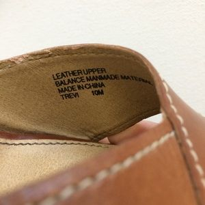 Preview International Shoes - Preview International Tan Wedge Sandals Size 10M